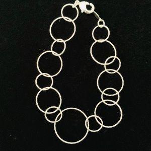 Fine Lightweight Loops Silver Bracelet